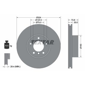 Bremsscheibe Bremsscheibendicke: 30,0mm, Ø: 324mm mit OEM-Nummer 34 111 165 859