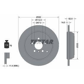 Спирачен диск дебелина на спирачния диск: 14,0мм, Ø: 330мм с ОЕМ-номер A1644231212