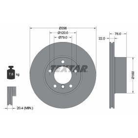 TEXTAR PRO+ 92075005 Bremsscheibe Bremsscheibendicke: 22,0mm, Ø: 296mm