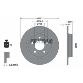 Disco de freno 92130600 3 (BK) 2.3 MZR ac 2009
