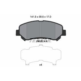 Kit pastiglie freno, Freno a disco (2463201) per per Cuscinetto Ruota NISSAN QASHQAI / QASHQAI +2 (J10, JJ10) 2.0 dal Anno 02.2007 139 CV di TEXTAR