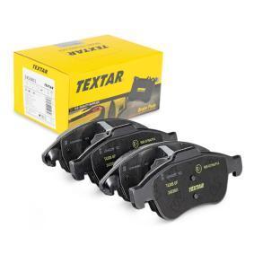 TEXTAR  2453801 Bremsbelagsatz, Scheibenbremse Breite: 155,3mm, Höhe 1: 64,7mm, Höhe 2: 57,7mm, Dicke/Stärke 1: 18,8mm, Dicke/Stärke 2: 18,3mm