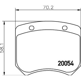 TEXTAR  2005402 Bremsbelagsatz, Scheibenbremse Breite: 70,2mm, Höhe: 58,1mm, Dicke/Stärke: 14,5mm