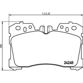 Bremsbelagsatz, Scheibenbremse Breite: 133,8mm, Höhe: 88mm, Dicke/Stärke: 18,5mm mit OEM-Nummer 044650W110