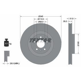 Brake Disc Brake Disc Thickness: 29,3mm, Ø: 345mm with OEM Number 8K0 615 301Q