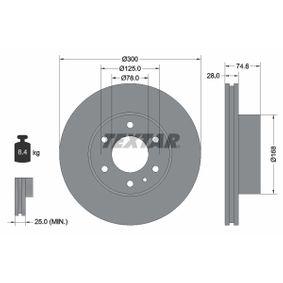 Bremsscheibe Bremsscheibendicke: 28mm, Ø: 300mm mit OEM-Nummer 58 0163 9518