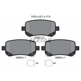 Bremsbelagsatz, Scheibenbremse Breite: 116,8mm, Höhe: 52,7mm, Dicke/Stärke: 17mm mit OEM-Nummer 68029 887AA