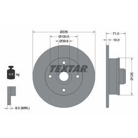 TEXTAR PRO 92041803 Bremsscheibe Bremsscheibendicke: 10,0mm, Ø: 226mm