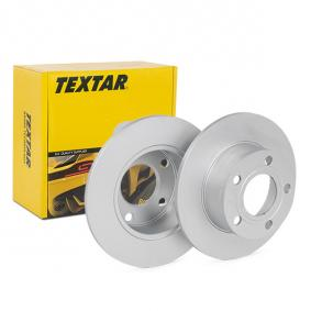 Bremsscheiben VW PASSAT Variant (3B6) 1.9 TDI 130 PS ab 11.2000 TEXTAR Bremsscheibe (92057503) für