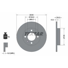 TEXTAR PRO 92071903 Bremsscheibe Bremsscheibendicke: 10,0mm, Ø: 239mm