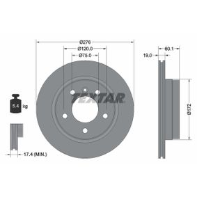 Bremsscheibe Bremsscheibendicke: 19mm, Ø: 276mm mit OEM-Nummer 3421 6 855 155