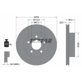 Bremsscheibe Bremsscheibendicke: 22,0mm, Ø: 276mm mit OEM-Nummer A63 842 10 112