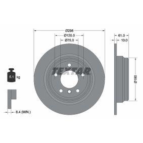 TEXTAR PRO 92076603 Bremsscheibe Bremsscheibendicke: 10,0mm, Ø: 298mm