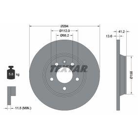 Bremsscheibe Bremsscheibendicke: 13,6mm, Ø: 294mm mit OEM-Nummer 7D0 615 601 C