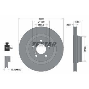Bremsscheibe Bremsscheibendicke: 22,0mm, Ø: 300mm mit OEM-Nummer 220 423 02 12 64