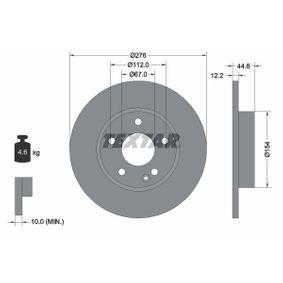 Bremsscheibe Bremsscheibendicke: 12,2mm, Ø: 276mm mit OEM-Nummer A1694210012