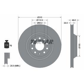 2008 Passat B6 Variant 3.6 FSI 4motion Brake Disc 92140703