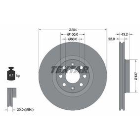 TEXTAR PRO 92145803 Bremsscheibe Bremsscheibendicke: 22,0mm, Ø: 284mm