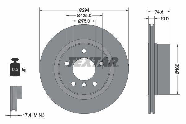 TEXTAR PRO 92146103 Bremsscheibe Bremsscheibendicke: 19mm, Ø: 294mm