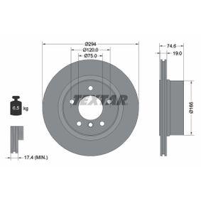 TEXTAR PRO 92146103 Bremsscheibe Bremsscheibendicke: 19,0mm, Ø: 294mm