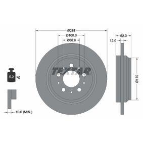 TEXTAR PRO 92149203 Bremsscheibe Bremsscheibendicke: 12,0mm, Ø: 288mm