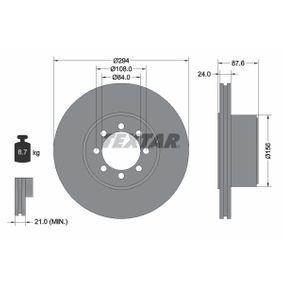 TEXTAR  92171700 Bremsscheibe Bremsscheibendicke: 24,0mm, Ø: 294mm