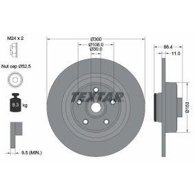 TEXTAR  92175700 Bremsscheibe Bremsscheibendicke: 11,0mm, Ø: 300mm