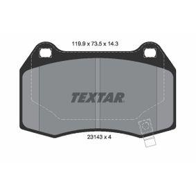 Bremsbelagsatz, Scheibenbremse Breite: 119,9mm, Höhe: 73,5mm, Dicke/Stärke: 14,3mm mit OEM-Nummer 8904 7744