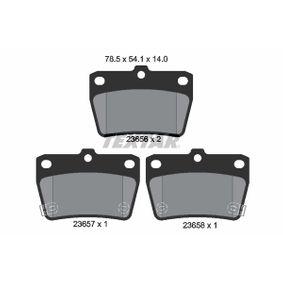 Brake Pad Set, disc brake 2365601 RAV 4 II (CLA2_, XA2_, ZCA2_, ACA2_) 2.0 MY 2001