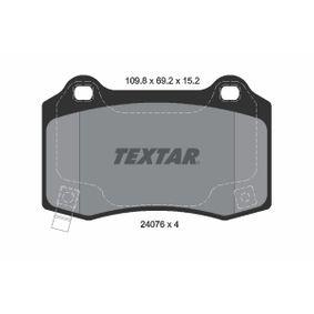 Bremsbelagsatz, Scheibenbremse Breite: 109,8mm, Höhe: 69,2mm, Dicke/Stärke: 15,2mm mit OEM-Nummer 68003 610AA
