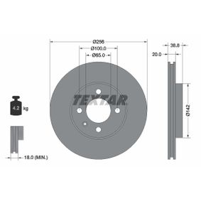 Bremsscheibe Bremsscheibendicke: 20,0mm, Ø: 256mm mit OEM-Nummer 357 615 301 D