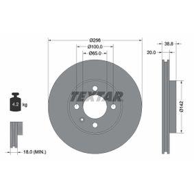 Bremsscheibe Bremsscheibendicke: 20mm, Ø: 256mm mit OEM-Nummer 1HM 615 301 E