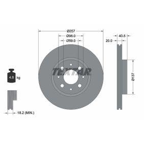 Bremsscheibe Bremsscheibendicke: 20mm, Ø: 257mm mit OEM-Nummer 5174 9124