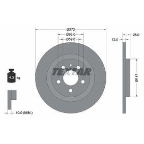 Bremsscheibe Bremsscheibendicke: 12,0mm, Ø: 272mm mit OEM-Nummer 4246.P4