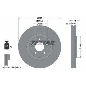 Bremsscheibe Bremsscheibendicke: 32,0mm, Ø: 320mm mit OEM-Nummer 4615A031