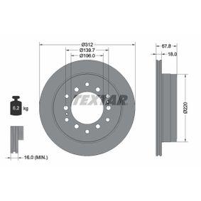 Disque de frein Épaisseur du disque de frein: 18mm, Ø: 312mm avec OEM numéro 42431-60270