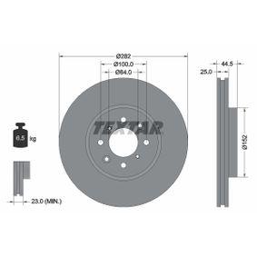 Спирачен диск дебелина на спирачния диск: 25,0мм, Ø: 282мм с ОЕМ-номер SDB000440