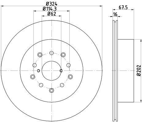 TEXTAR PRO 92170903 Bremsscheibe Bremsscheibendicke: 16mm, Ø: 324mm