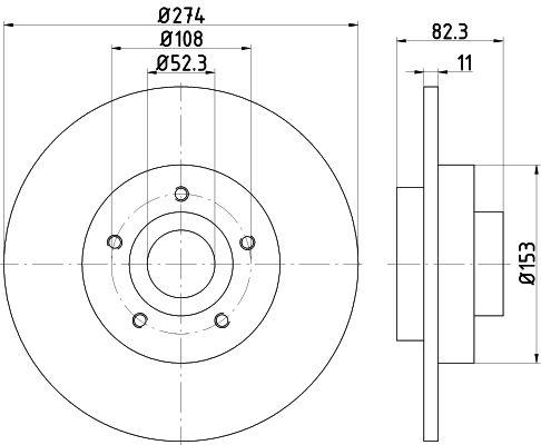 TEXTAR PRO 92171403 Bremsscheibe Bremsscheibendicke: 11mm, Ø: 274mm