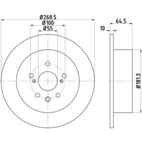 Disque de frein Epaisseur du disque de frein: 10mm, Ø: 268,5mm avec OEM numéro 42431 20320