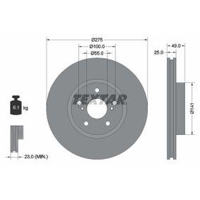Disque de frein Epaisseur du disque de frein: 25mm, Ø: 275mm avec OEM numéro 4351220710