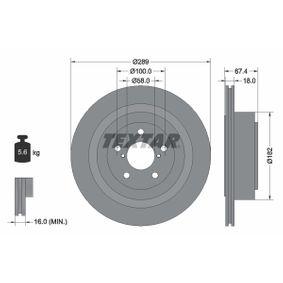 Bremsscheibe Bremsscheibendicke: 18,0mm, Ø: 289mm mit OEM-Nummer 26700AE081