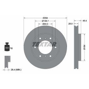 Disco freno 92180203 L 200 / Triton Pick-up (KJ_, KK_, KL_) 2.4 DI-D 4WD (KL1T, KL2T) ac 2018