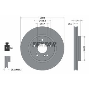 Brake Disc Brake Disc Thickness: 28mm, Ø: 293mm with OEM Number 45251SWWG01