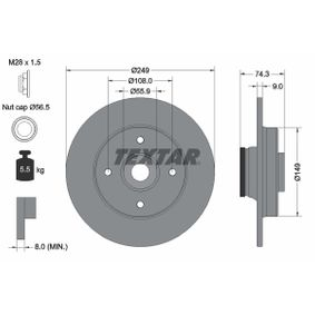 Bremsscheibe Bremsscheibendicke: 9,0mm, Ø: 249mm mit OEM-Nummer 4249-66