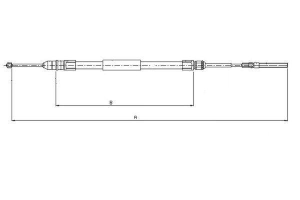 TEXTAR  44008800 Seilzug, Feststellbremse Länge: 1708/1140mm