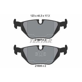Bremsbelagsatz, Scheibenbremse Breite: 123mm, Höhe: 45,3mm, Dicke/Stärke: 17,3mm mit OEM-Nummer 34212157621