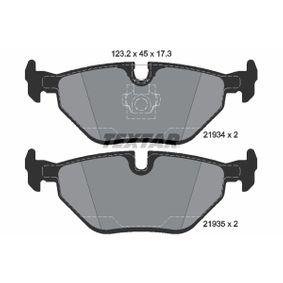 Bremsbelagsatz, Scheibenbremse Breite: 123,2mm, Höhe: 45mm, Dicke/Stärke: 17,3mm mit OEM-Nummer 3421 2157 574