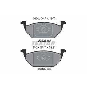 Bremsbelagsatz, Scheibenbremse Breite: 146mm, Höhe: 54,7mm, Dicke/Stärke: 19,7mm mit OEM-Nummer 2Q0 698 151