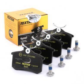 TEXTAR Jogo de pastilhas para travão de disco 2355481 com códigos OEM 1H0615415